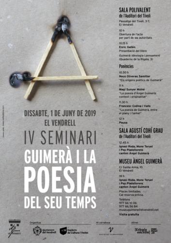 IV Seminari - Guimerà i la poesia del seu temps