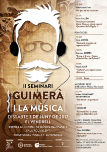 Cartelll II Seminari Àngel Guimerà - Àngel Guimerà i la música