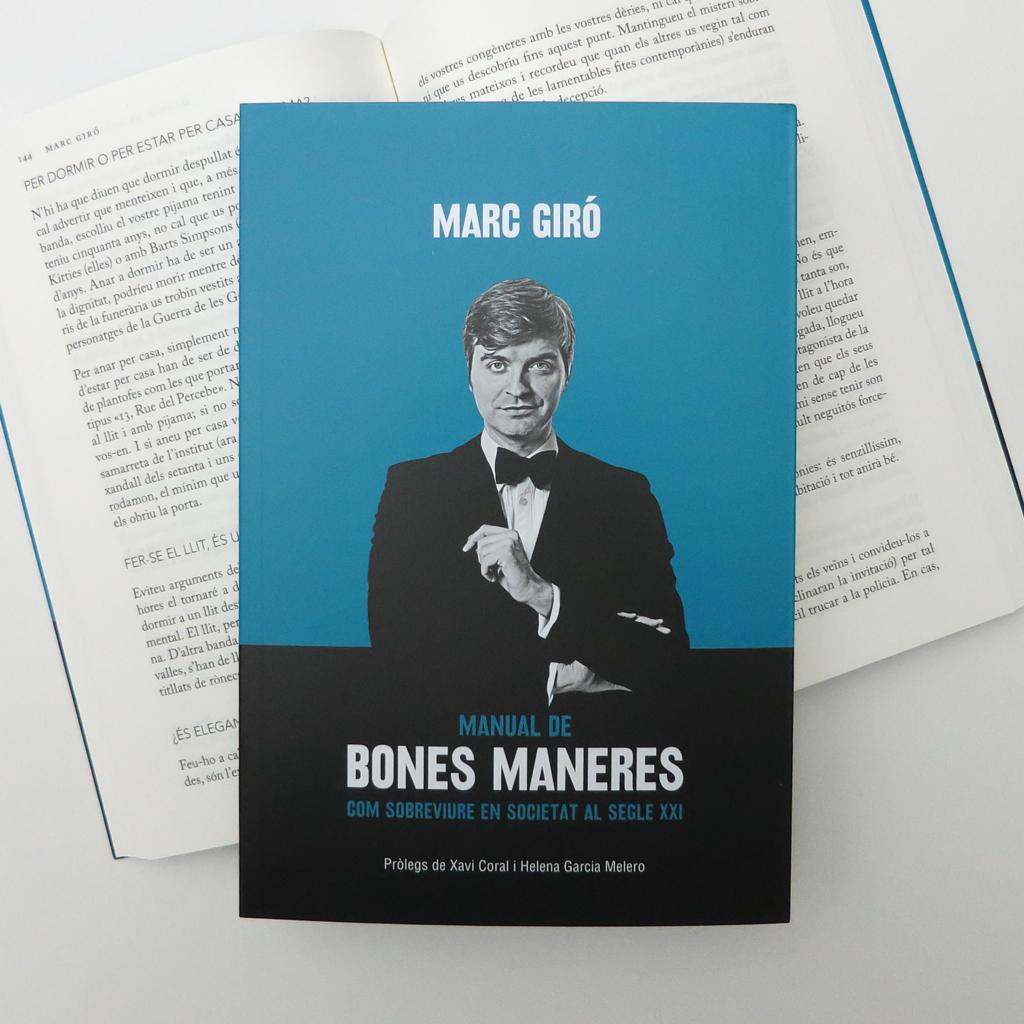 """Portada del llibre """"Manual de bones maneres"""" de Marc Giró"""