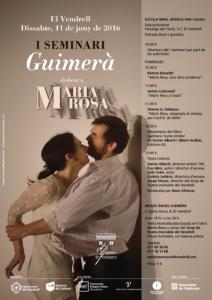 Cartelll I Seminari Àngel Guimerà - Maria Rosa