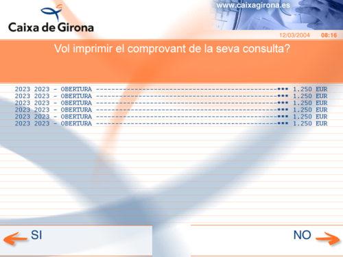 Caixa Girona - caixer automàtic